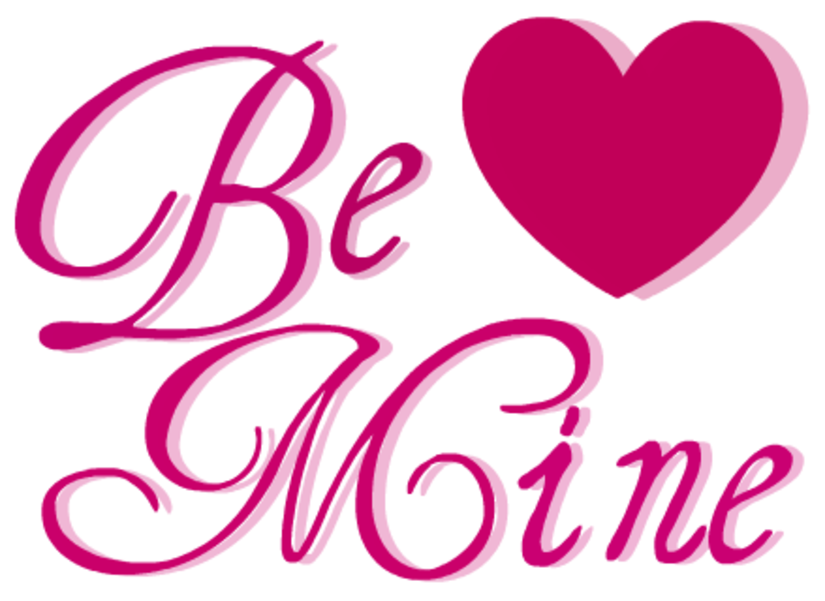 Be Mine heart Valentine clip art