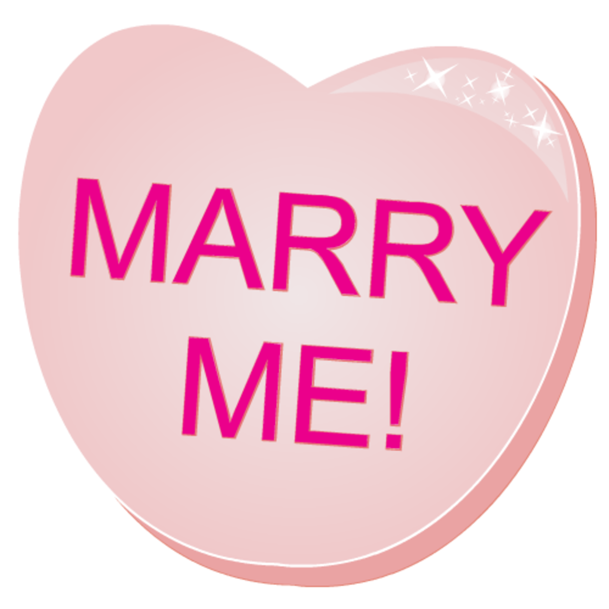 Free valentines clip art: Marry Me! pink candy heart