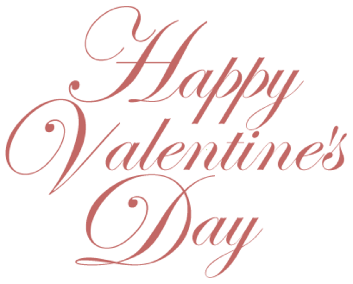 Happy Valentine's Day message of love free clip art