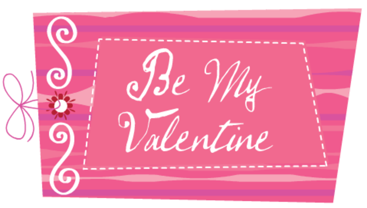 "Valentine clip art: ""Be My Valentine"""