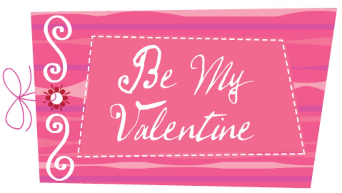 "Valentine clip art: ""Be My Valentine"""