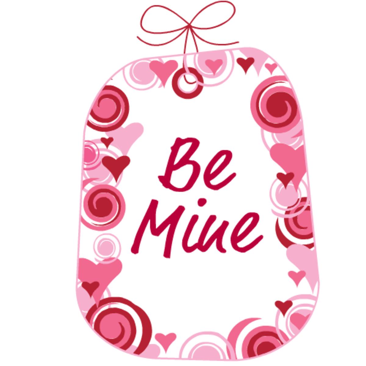 "Valentines art: ""Be Mine"""