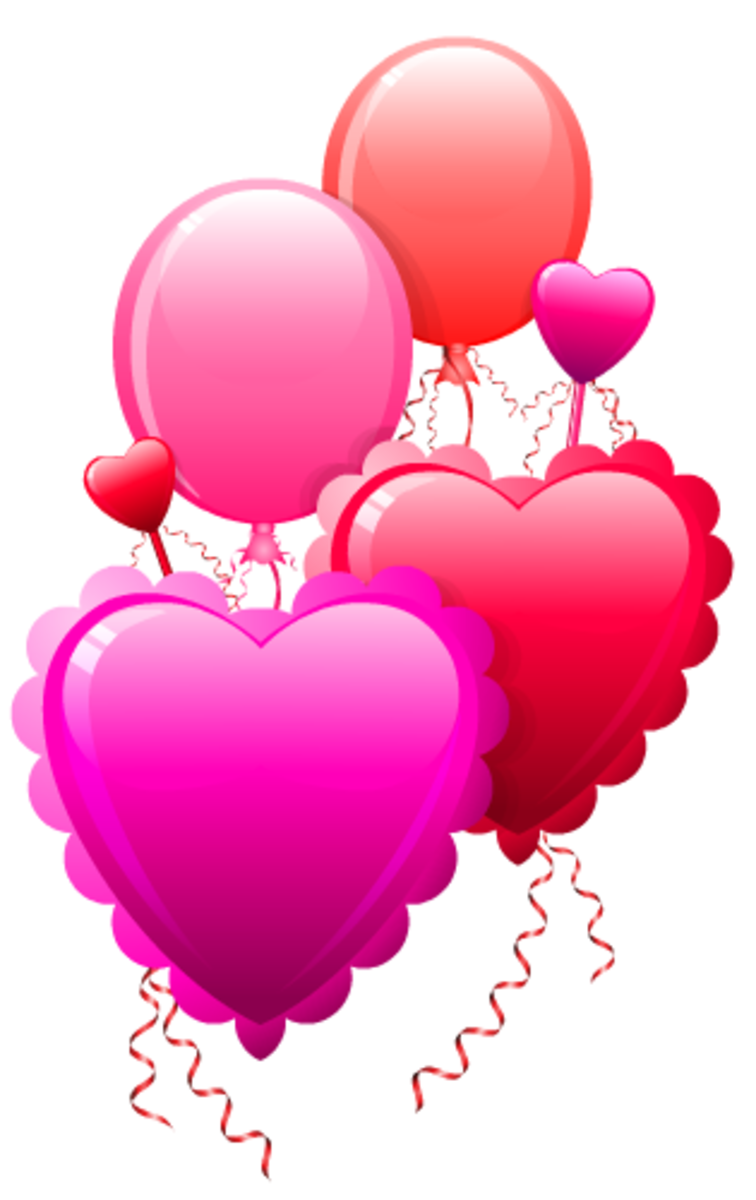 Valentine's Day balloon clip art