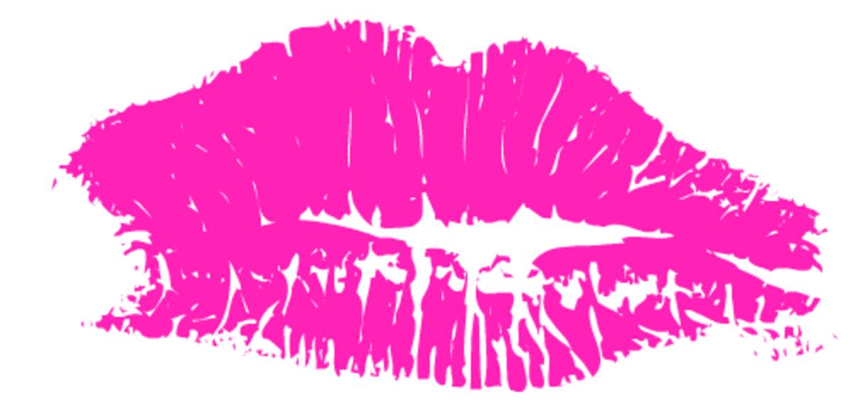 Pink lipstick kiss clip art