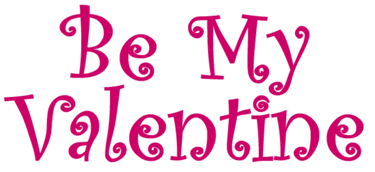 Be My Valentine message of love free clip art