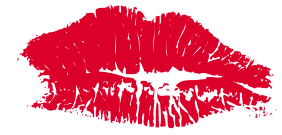 Red lipstick kiss clip art