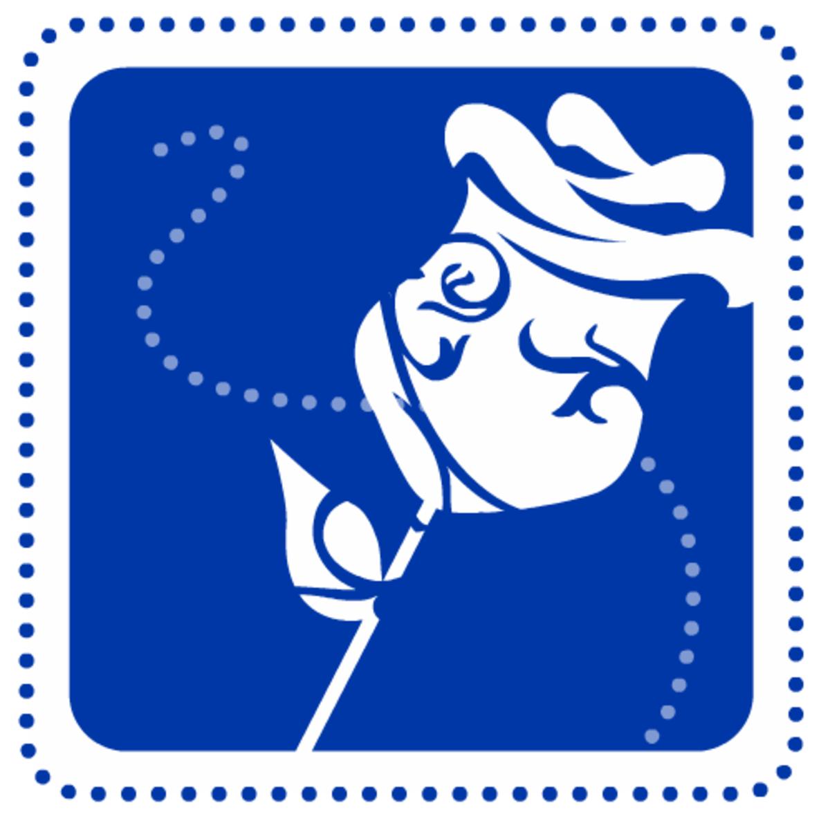 Valentine clip art: Blue rose