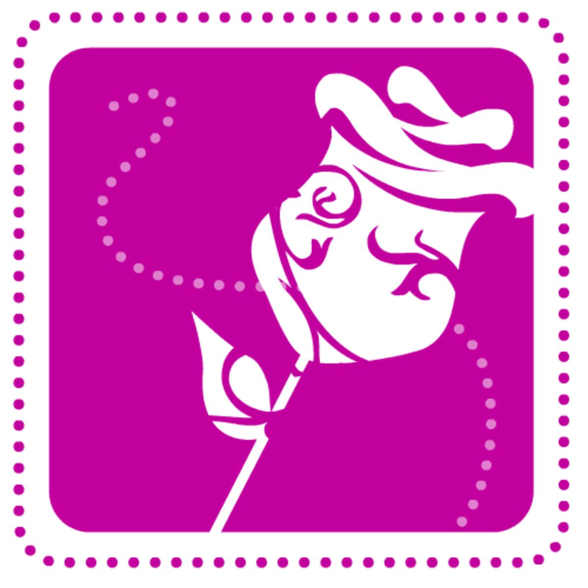 Free valentine clip art: purple rose
