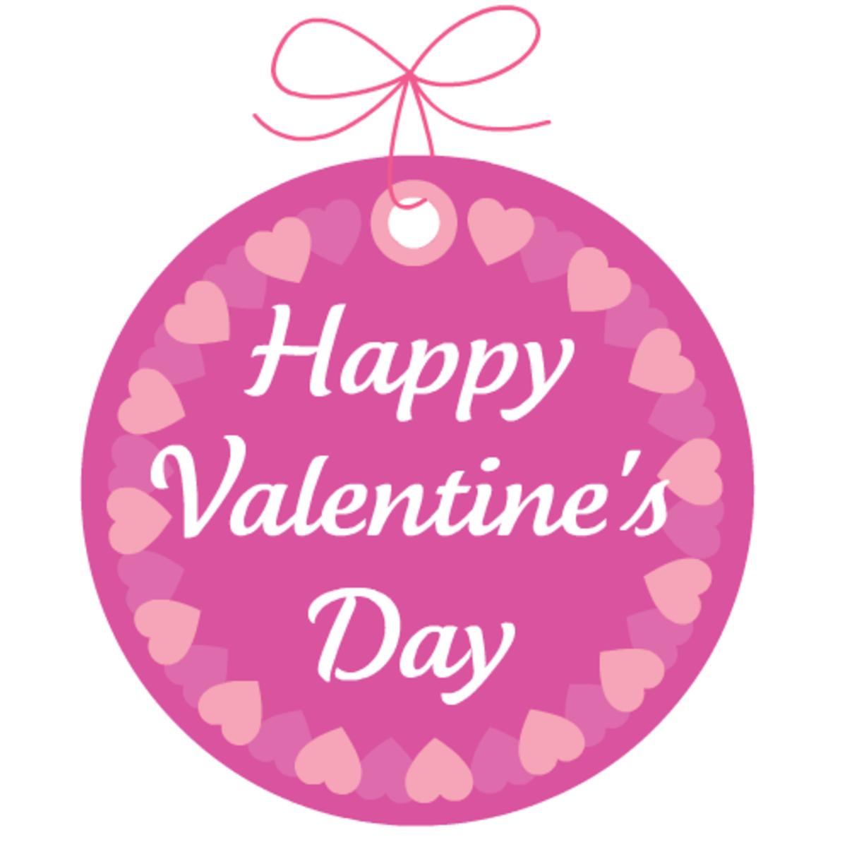 Valentine tags: Happy Valentine's Day