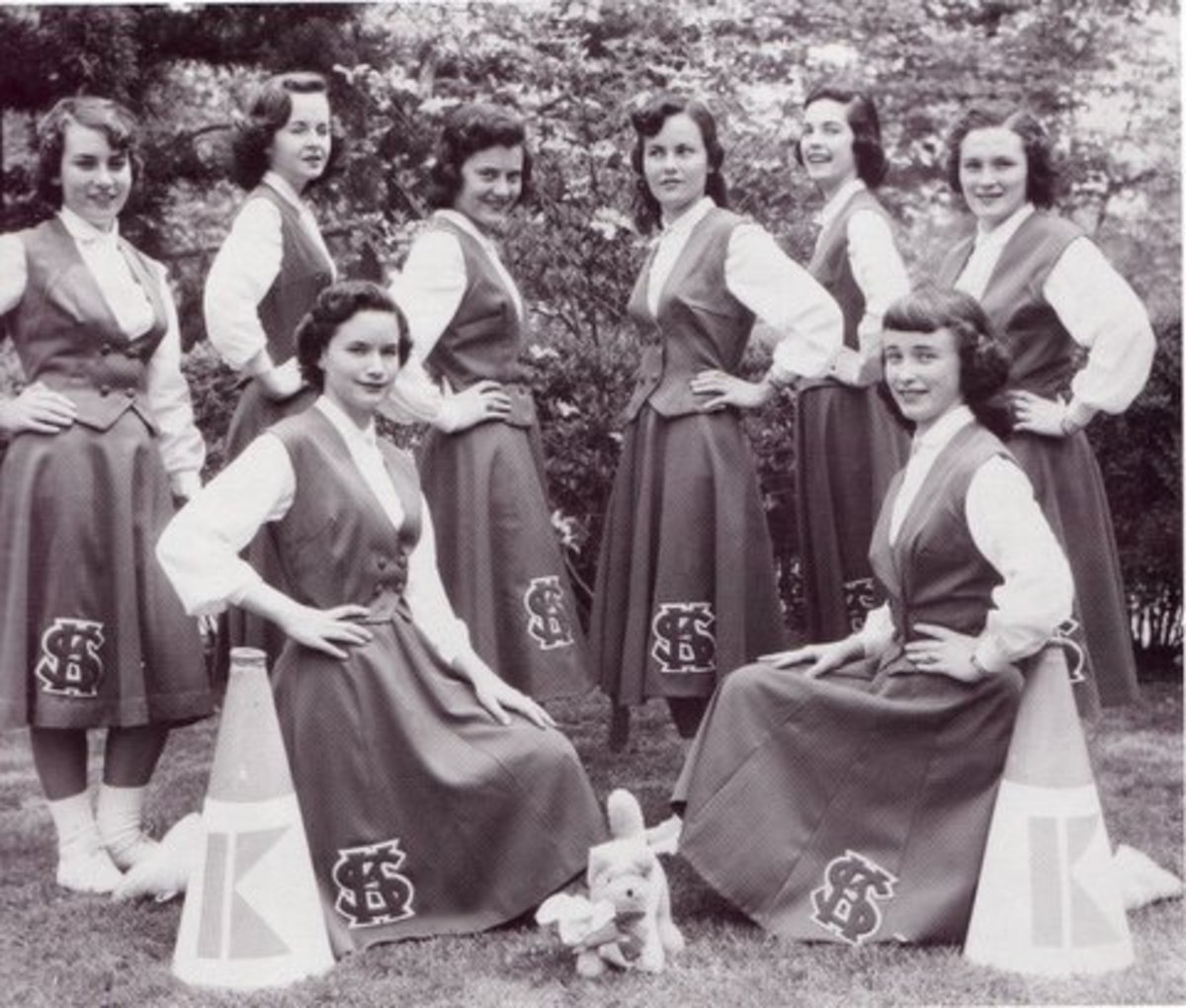 High School Cheerleaders of 1955