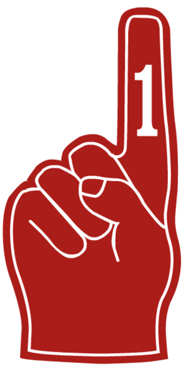 Red number one finger clip art