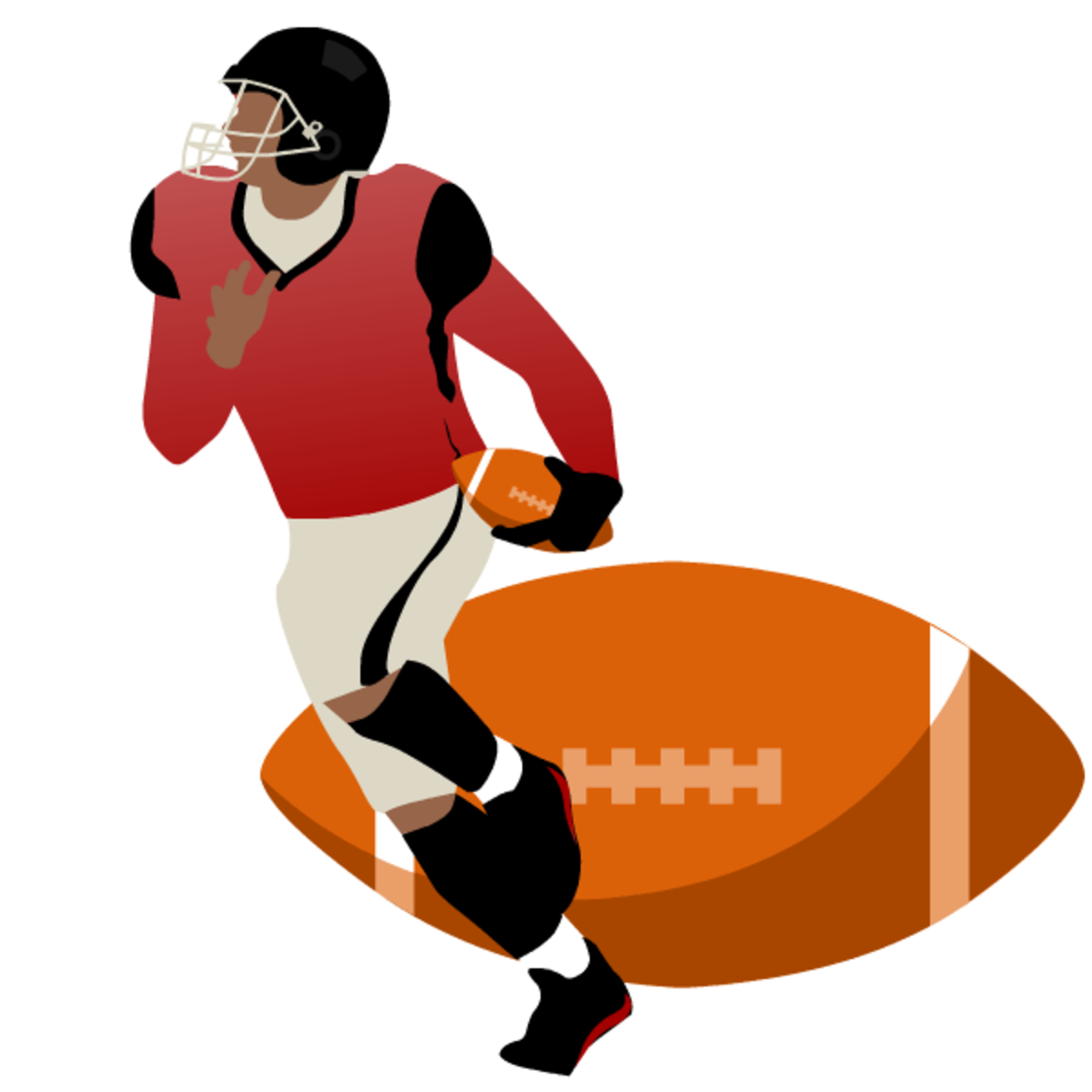 Football player with football clipart
