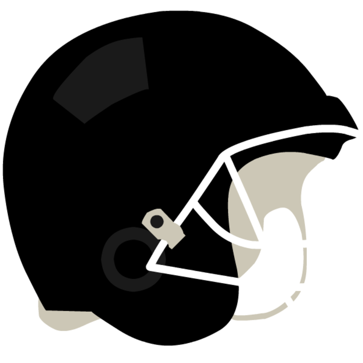 Black football helmet clip art