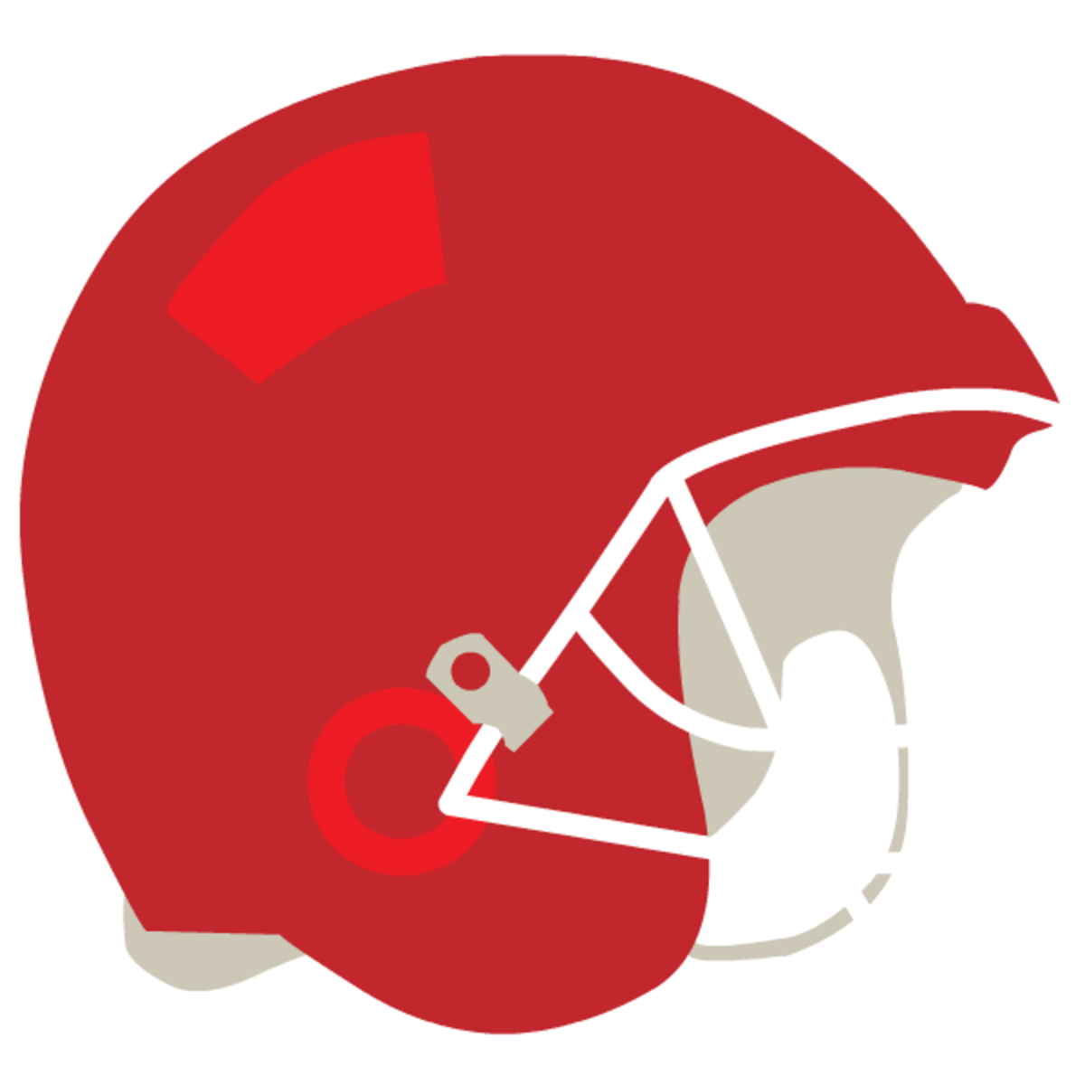 Red football helmet clip art