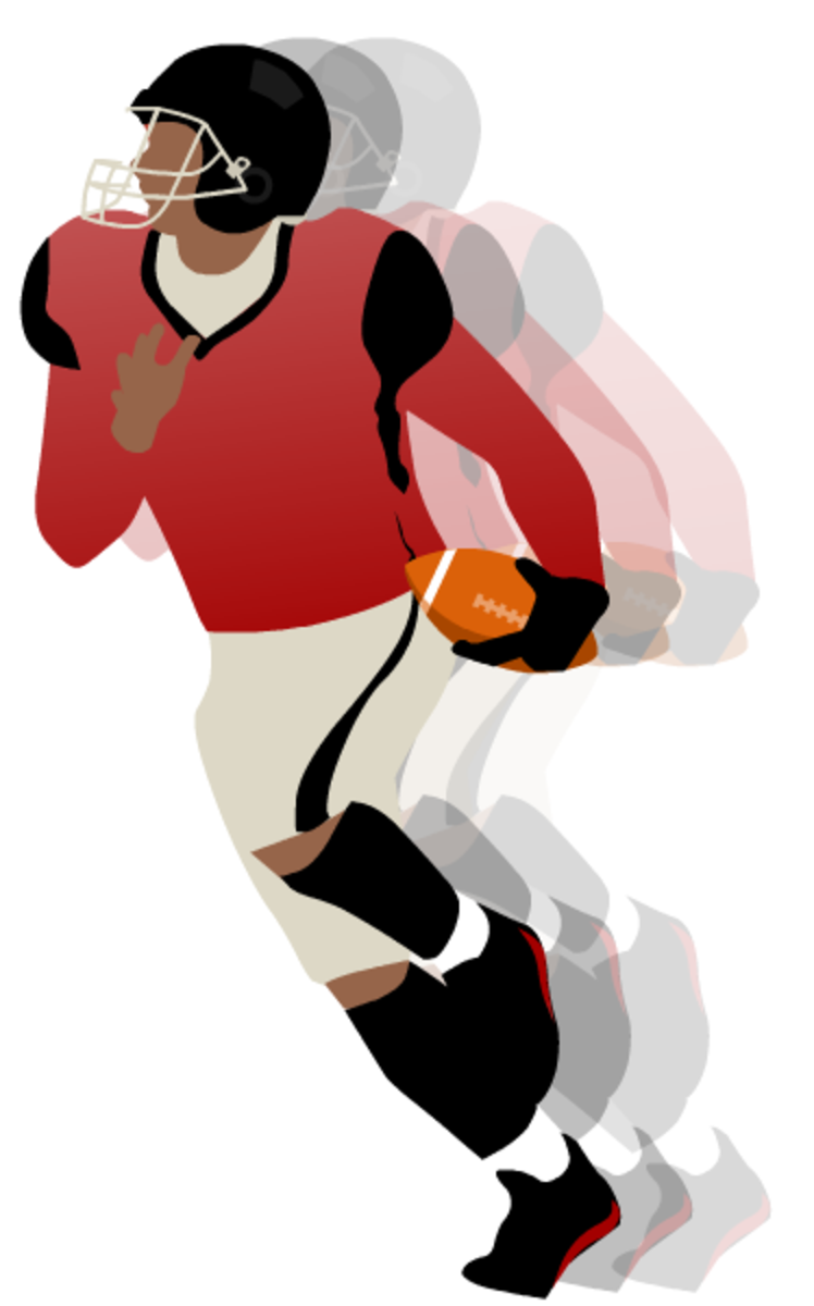 Running football player clip art