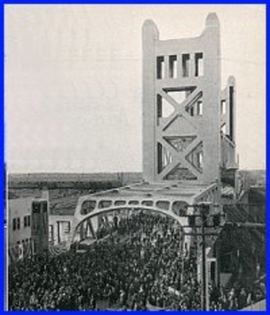 Sacramento Tower Bridge Dedication: 1935