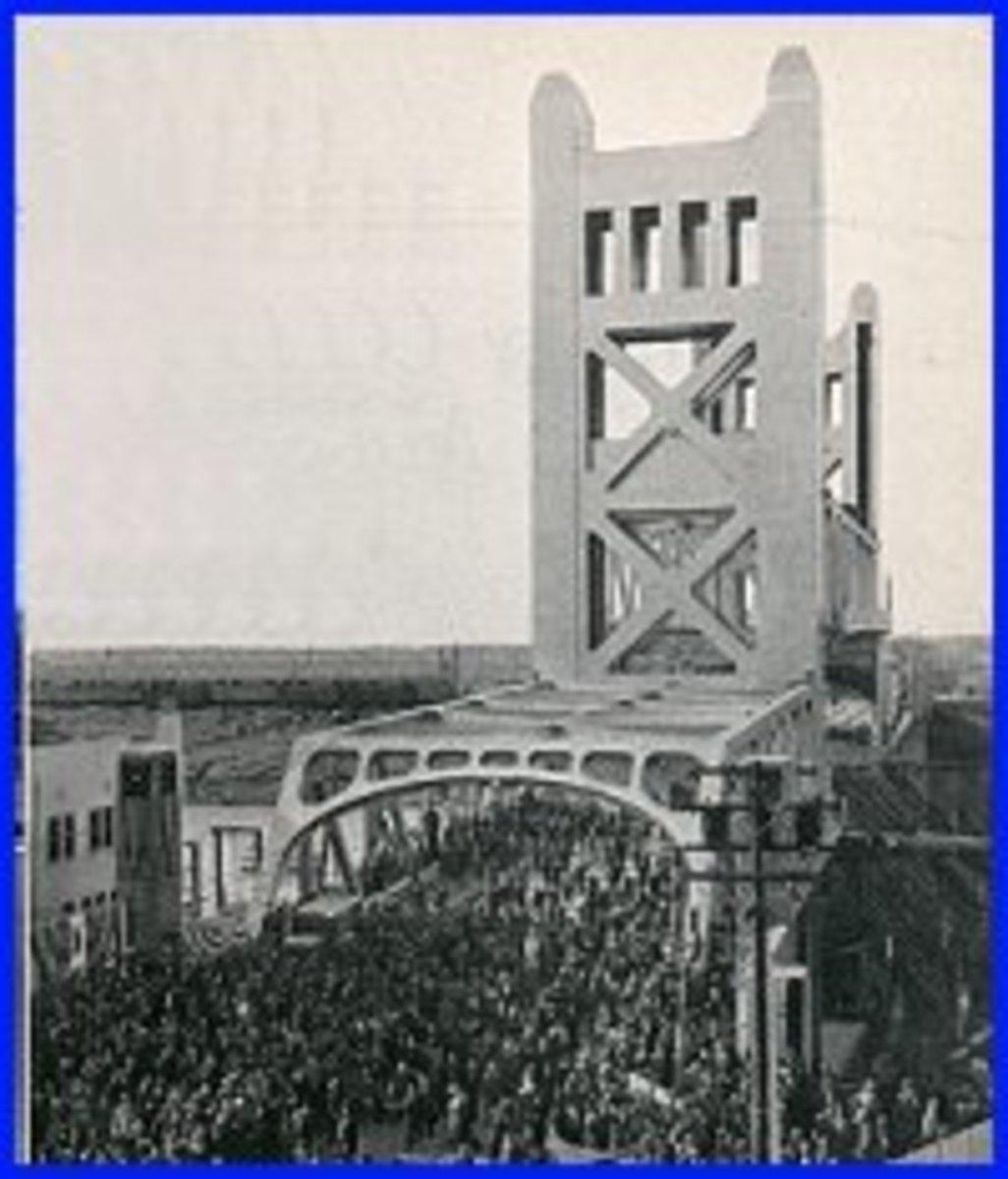 Sacramento Tower Bridge Dedication: 1935