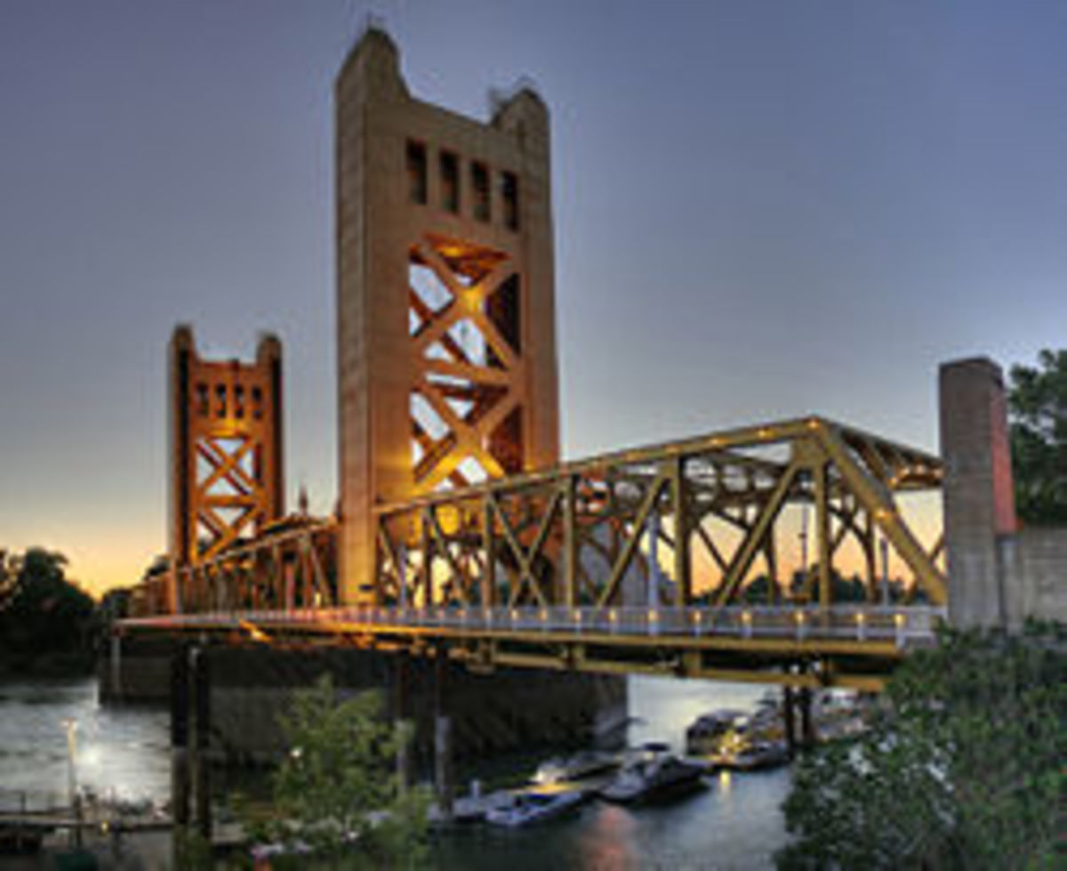 The Tower Bridge Is The Formal Entrance Into California's State Capitol