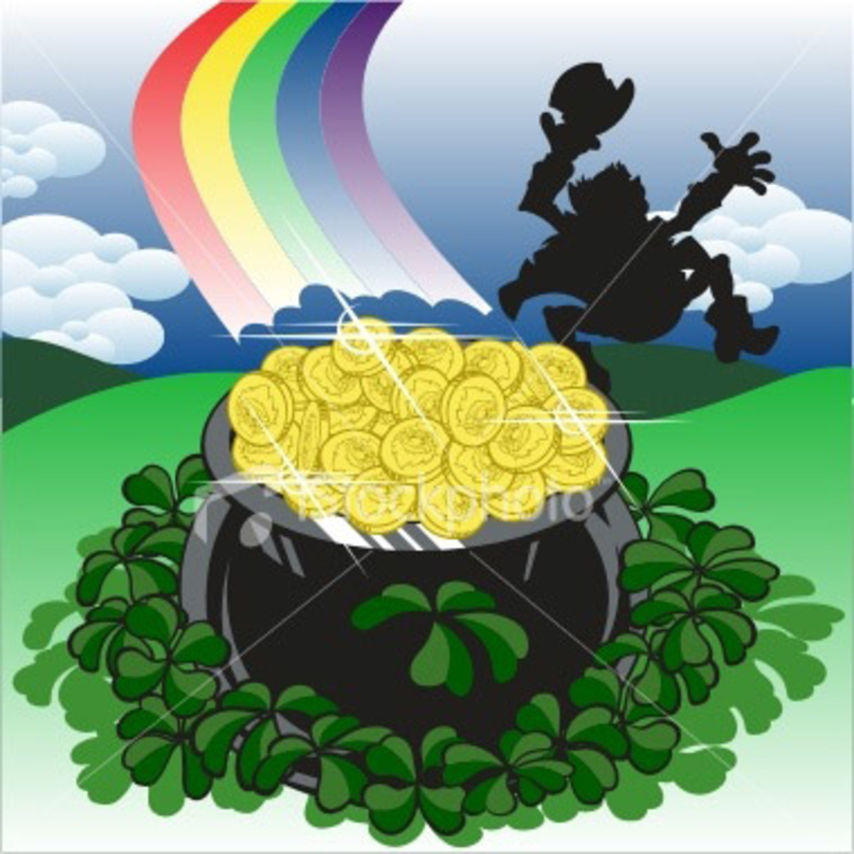 The pot of gold at the end of the rainbow