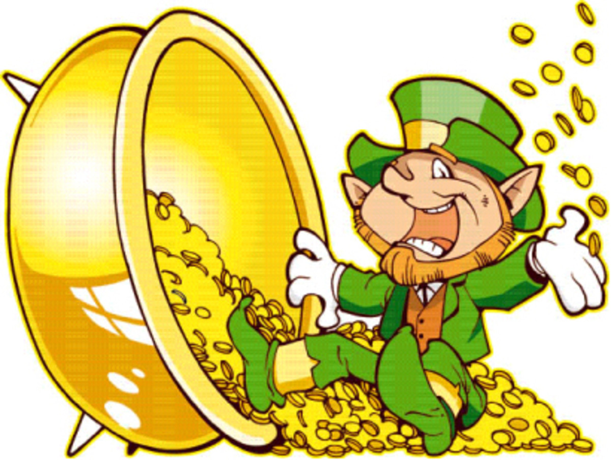 A Leprechaun and his pot of gold