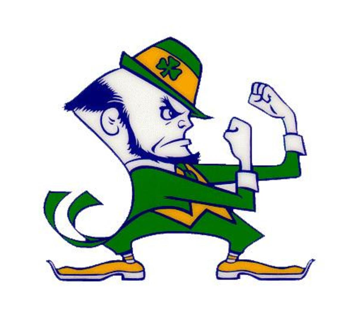 The Notre Dame Fighting Irish mascot