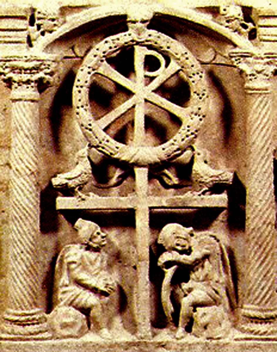 The Chi Rho on the Cross in Rome