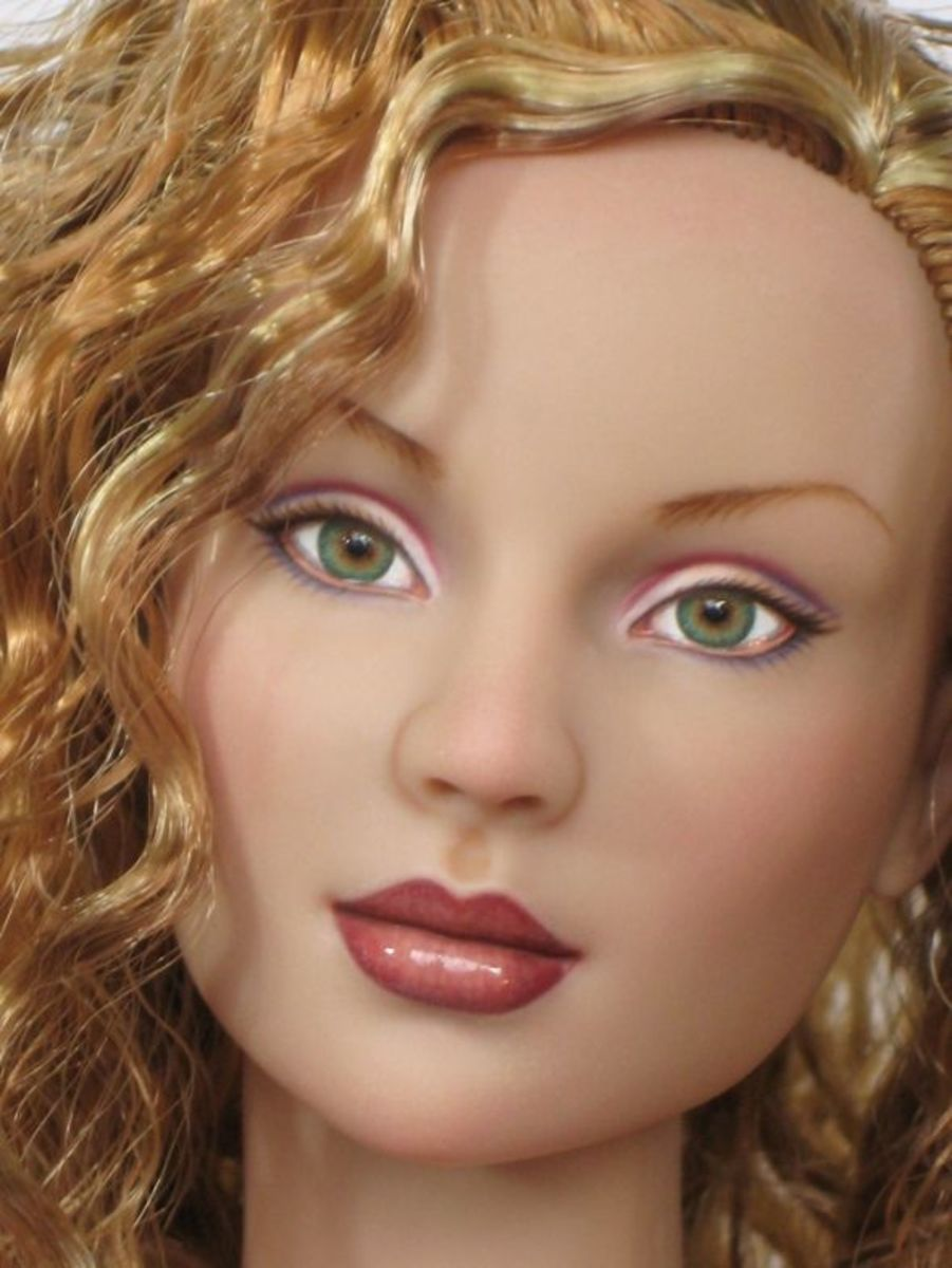 Sands Of Fire - Ashley Repaint - OOAK Portrait Doll