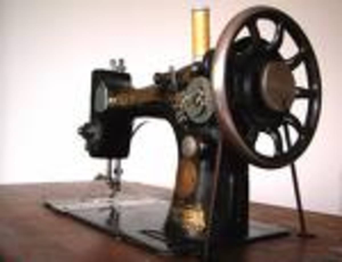 An old manual sewing machine