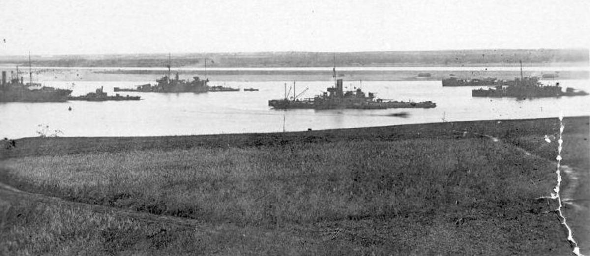 British Naval Flotilla on the Dvina River in North Russia