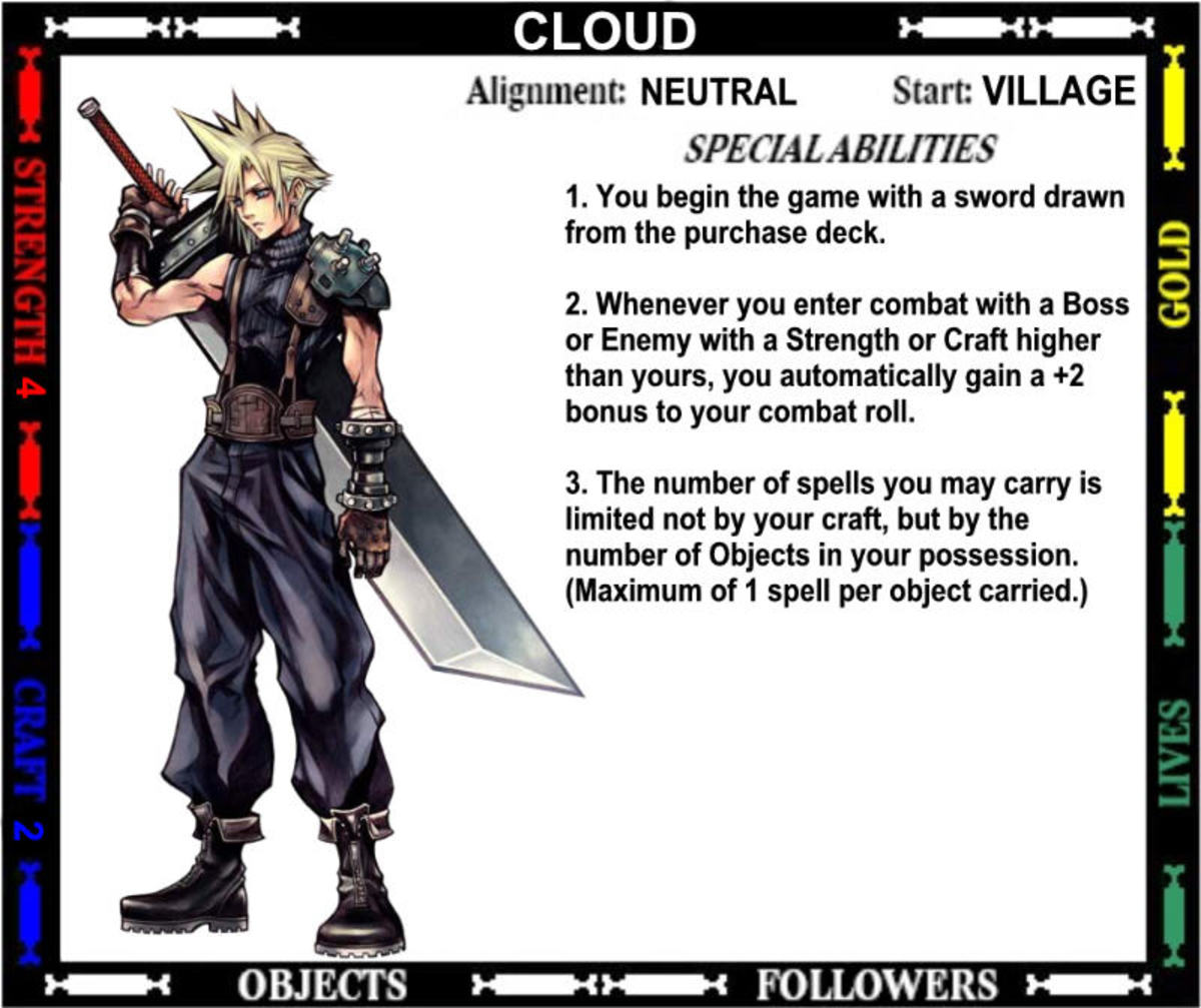 11 Final Fantasy Characters for Talisman