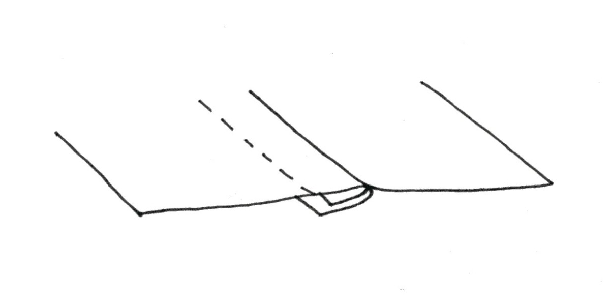 Showing how seam is constructed.