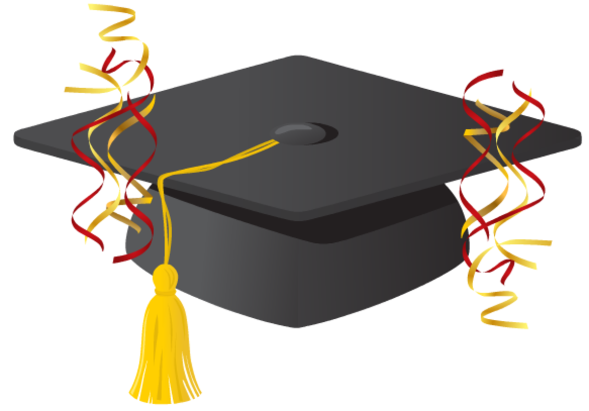 free graduation cap and streamers clip art