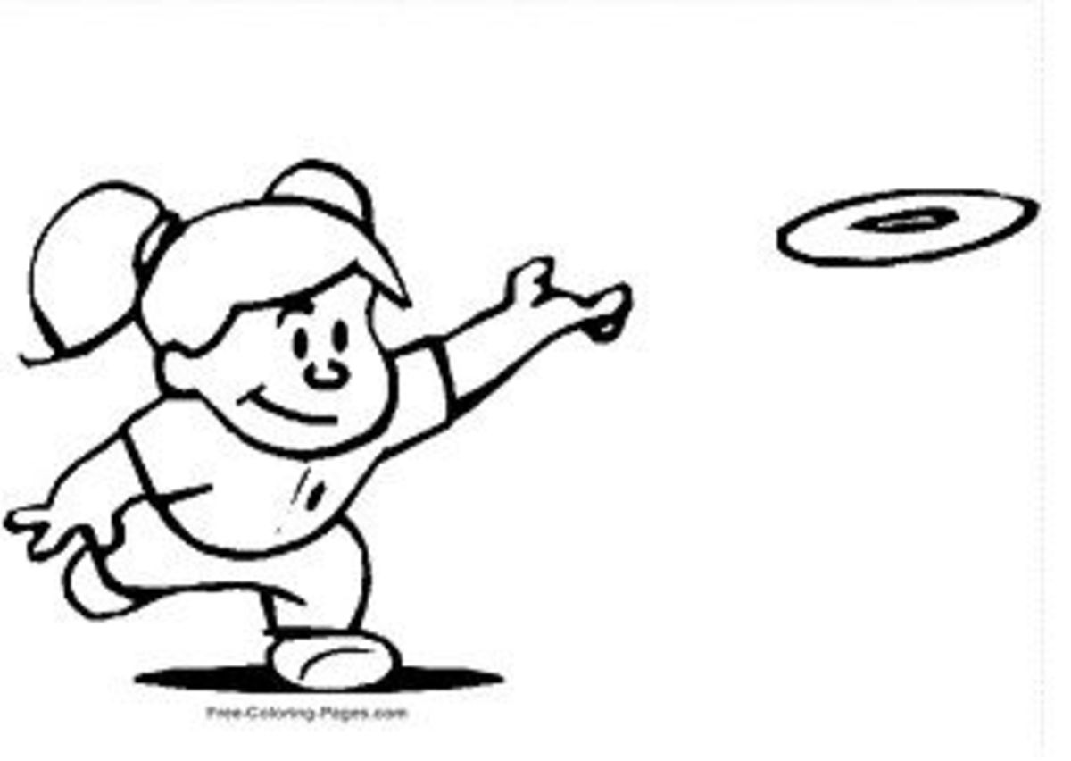 Frisbee Coloring Page