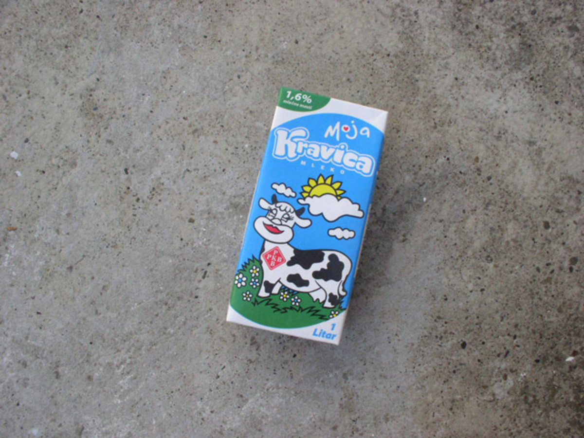 Collect an empty milk or juice container. The easiest is to use a brick shaped package.