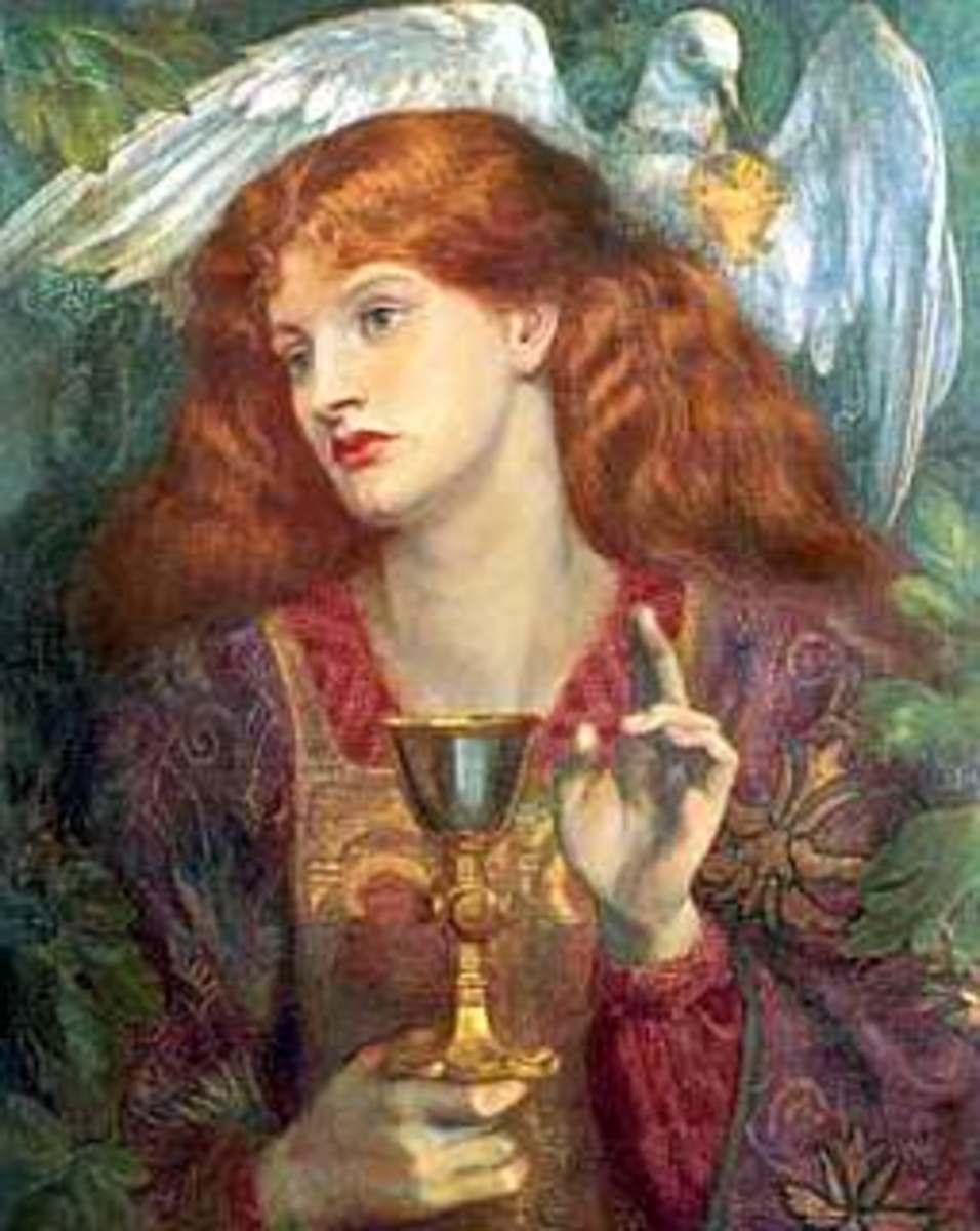Dante Gabriel Rossetti: Holy Grail (http://commons.wikimedia.org/wiki/File:Rosetti01.jpg)