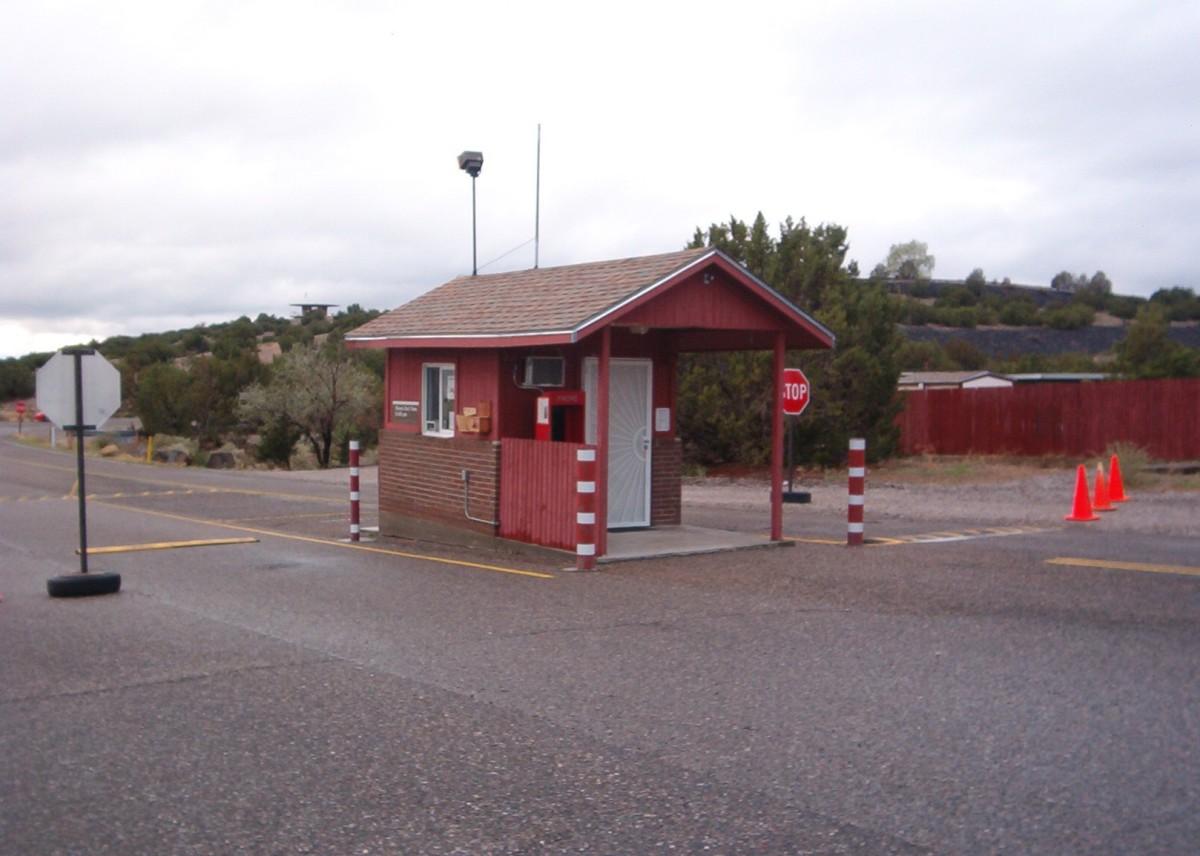 Gate house on Cochiti Lake