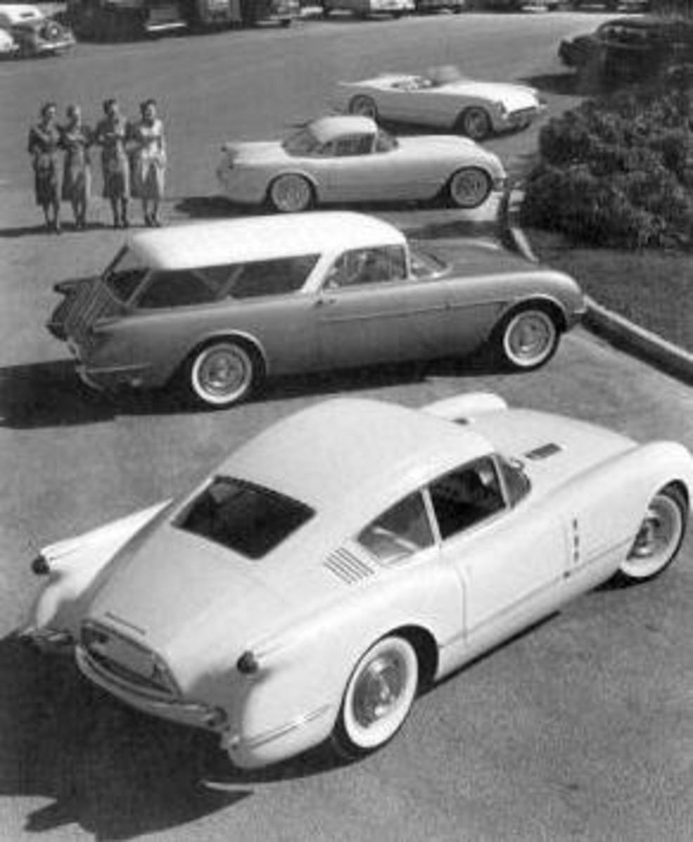Bottom: Corvair, Middle: Nomad, Top: Corvette