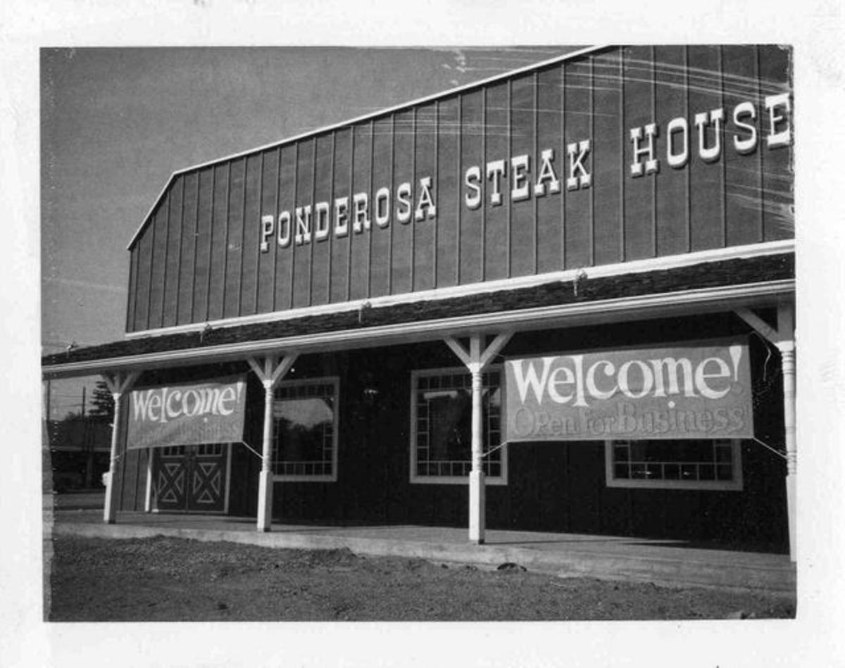 Ponderosa Steak House in the 1970s.