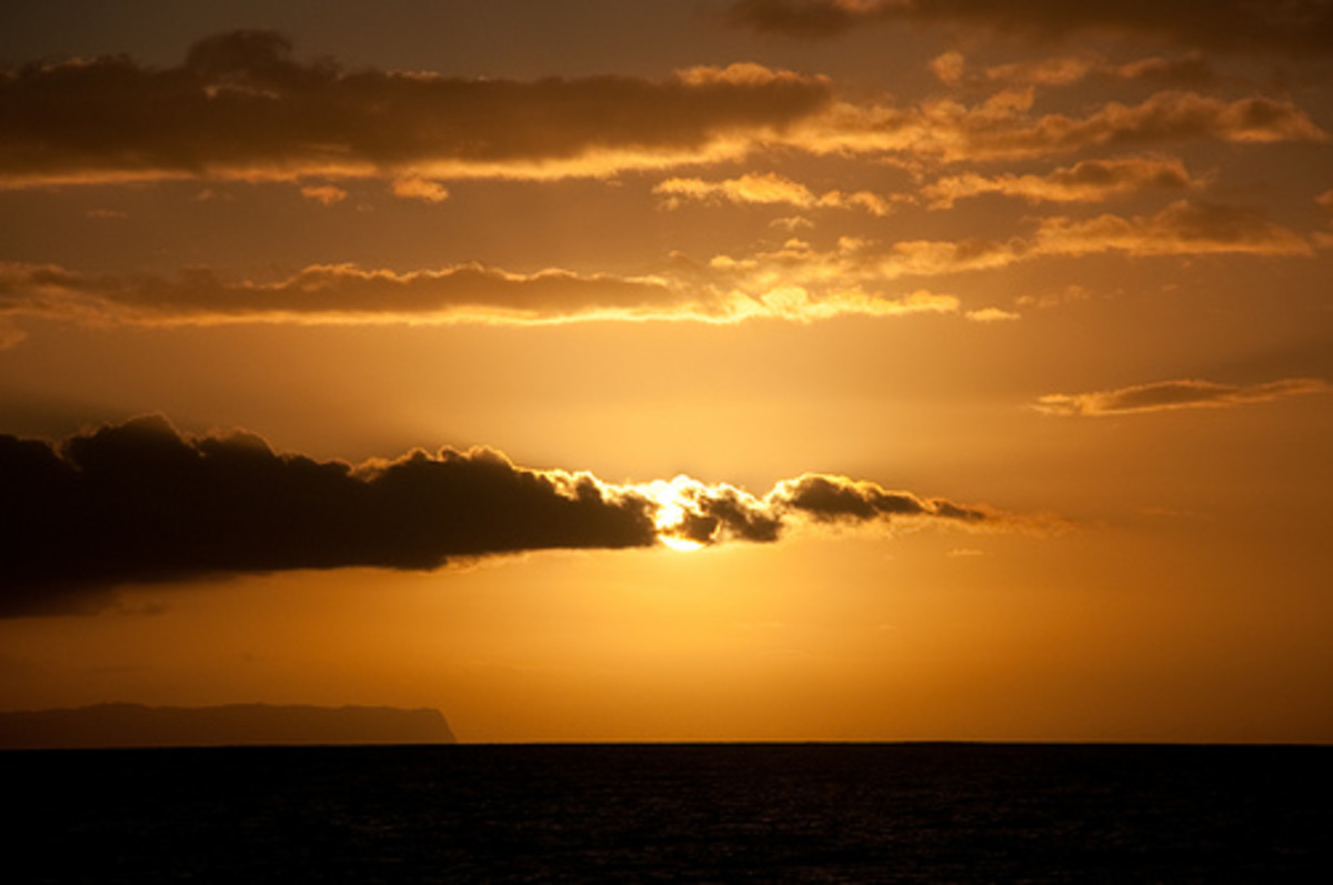 Sunset over Niihau, Photo used under Creative Commons Attribution License