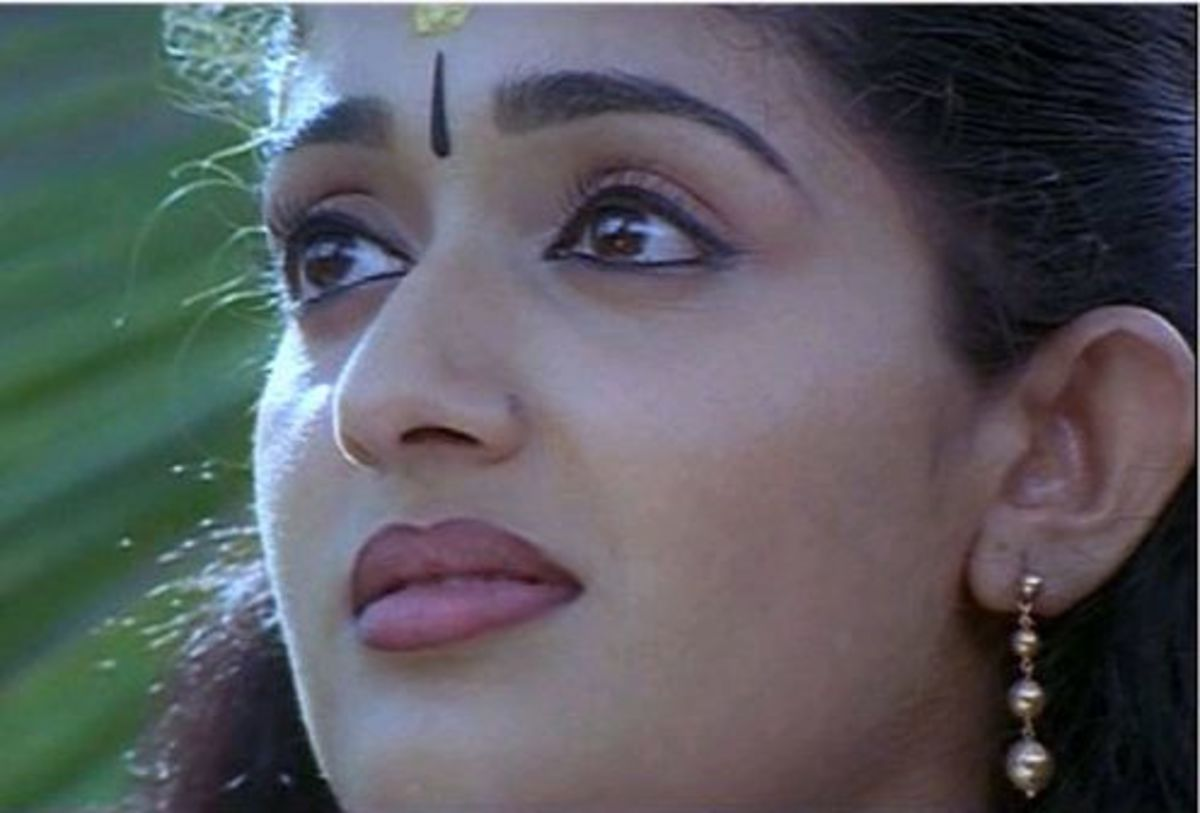 A Malayalam film actress from modern times. Ms. Kavya Madhavan's expression of sadness.