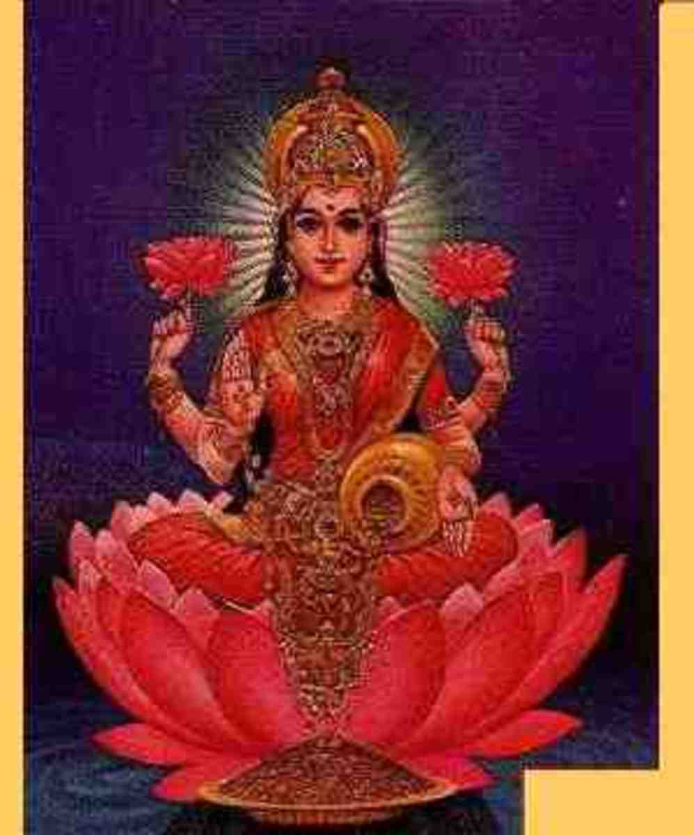 Another picture showing goddess Lakshmi