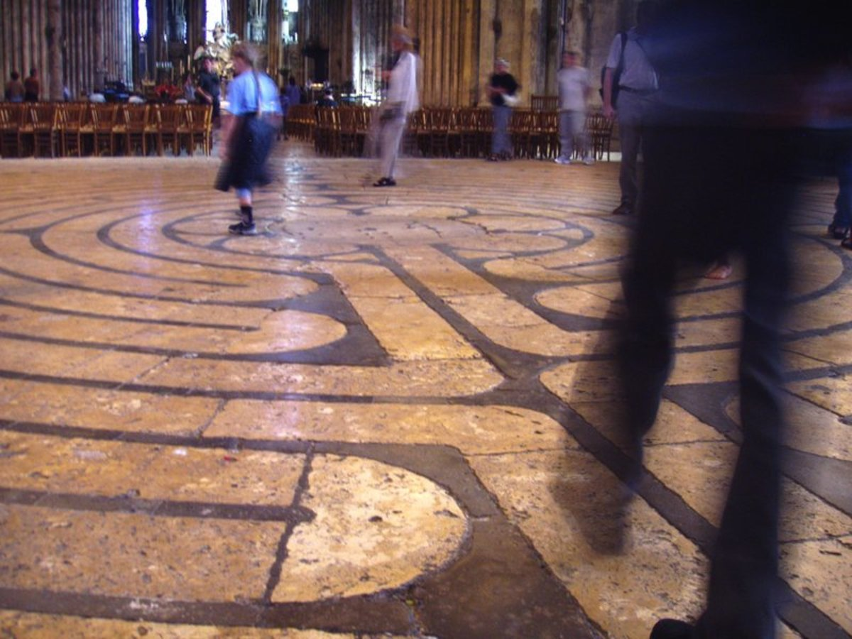 Walking the Maze, Chartres Cathedral