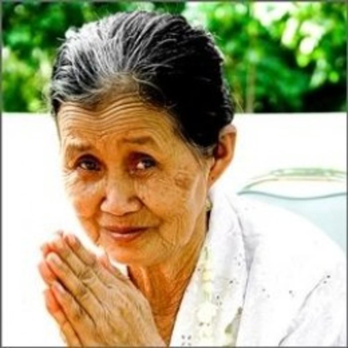 Praying Old Woman