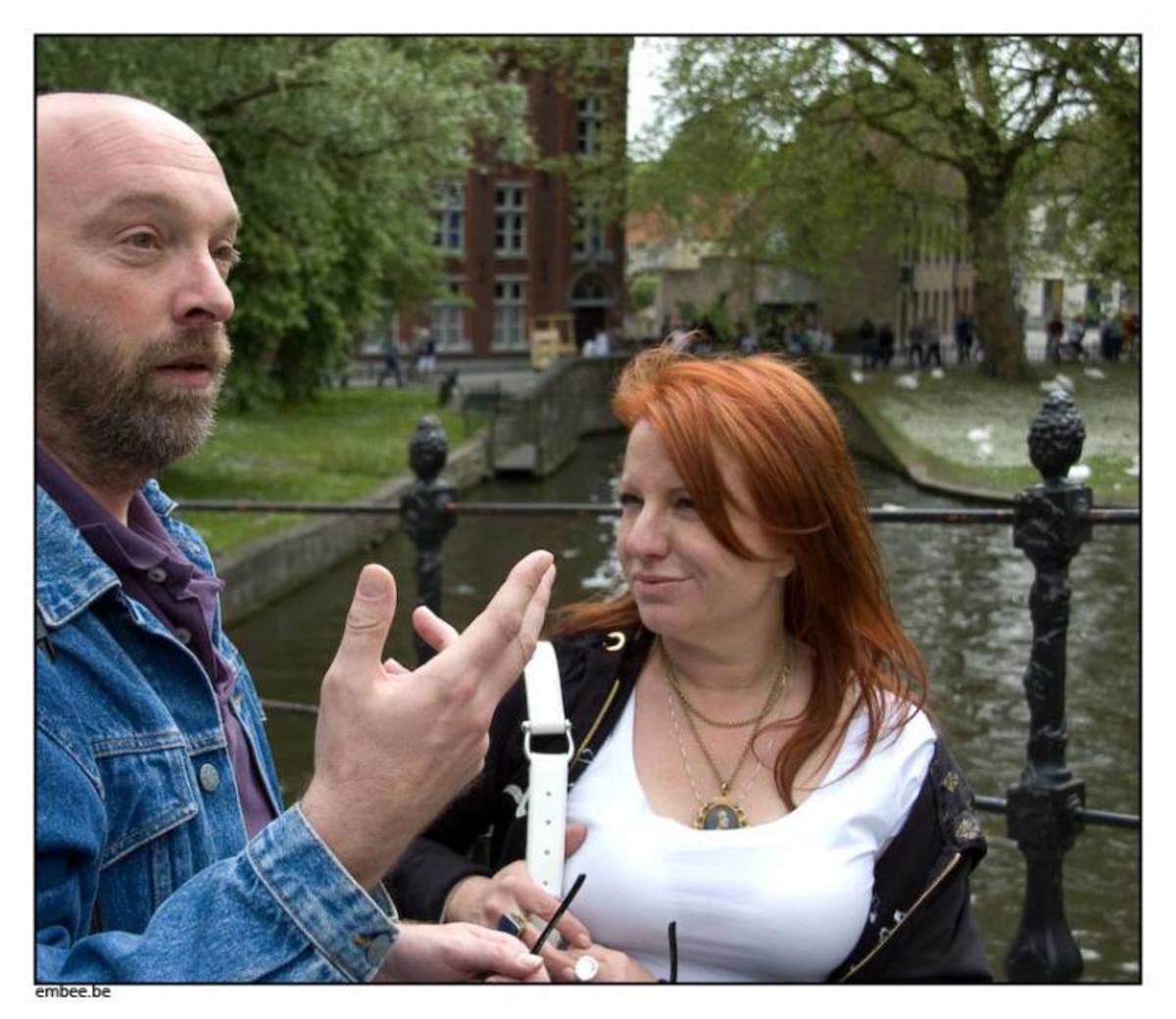 Patrick Bernauw & Kathleen McGowan in Bruges