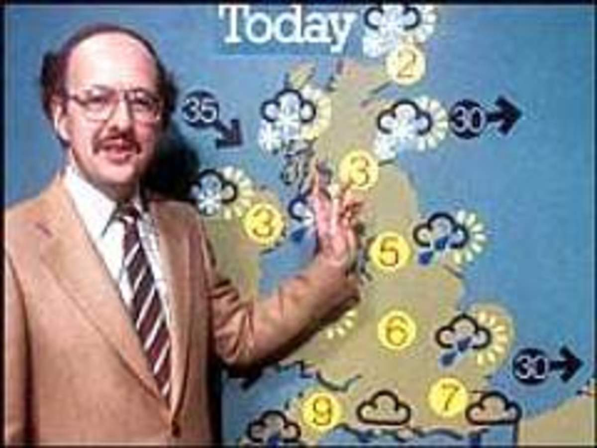 Vintage weather forecast by Michael Fish of the BBC