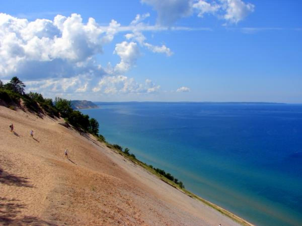 Sleeping bear national lakeshore in traverse city michigan