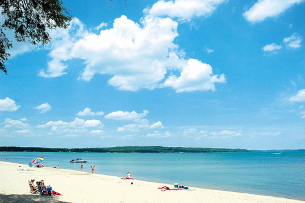 Traverse city state park beach