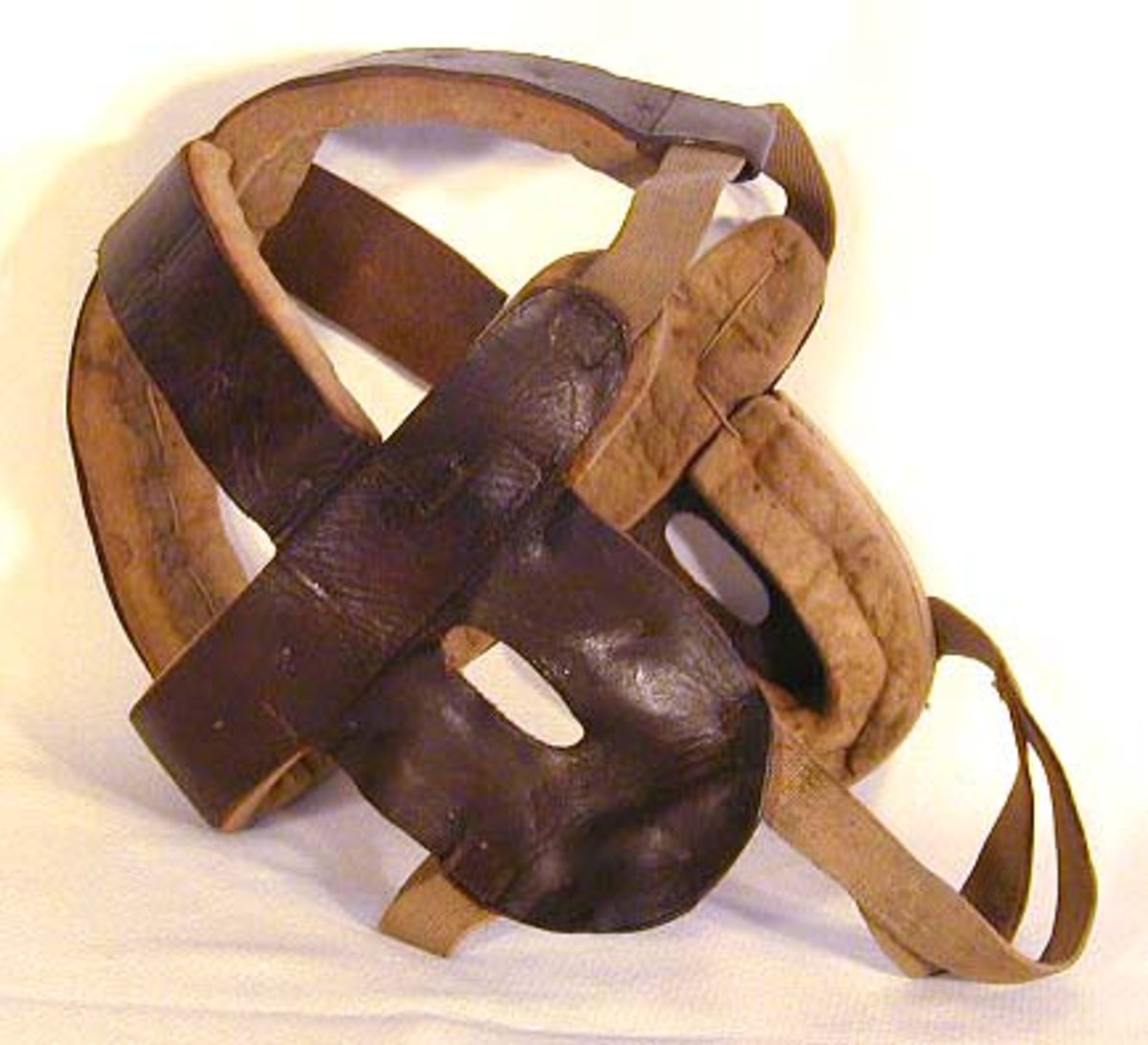 Image of the first types of head harness.  First appeared around the late 1890's