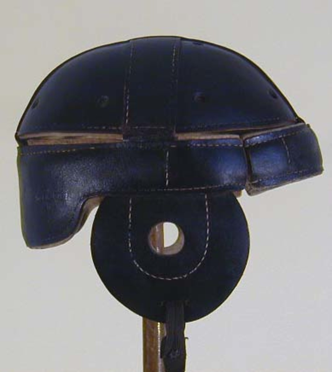 Early leather helmet from around 1910.