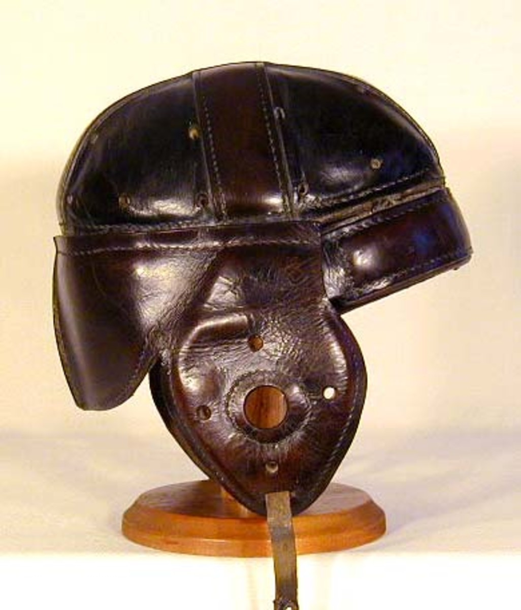 In the 20's the helmets added more padding and strap harnesss inside to reduce impact energy.